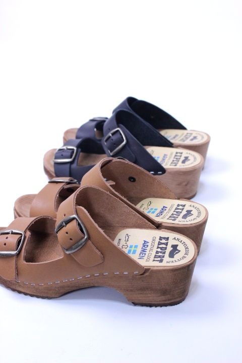 【SALE20%OFF】ARMEN/EXPERT(アーメン/エキスパート)DOUBLE BUCKLE SANDAL ANEP1801【Lady's】