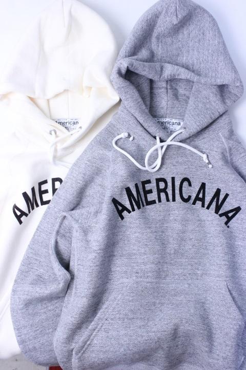 【別注暖かい裏起毛】Americana(アメリカーナ)HOOD PRINT SWEAT