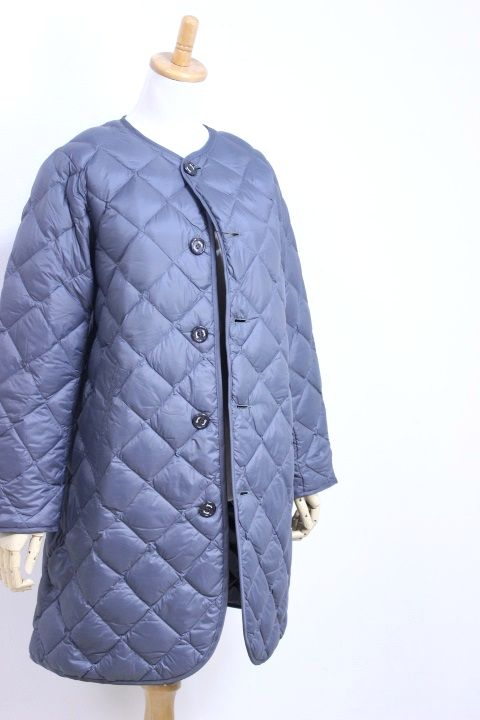 【SALE 30%OFF】GYMPHLEX(ジムフレックス)HAND QUILT DOWN ノーカラーロングコート #J-1372 NOK 3color 2019'A/W【Lady's】