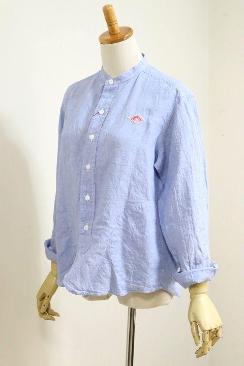 【2020'春夏】DANTON(ダントン)LINEN CLOTH バンドカラーシャツ #JD-3606 KLS 2020'S/S【Lady's】