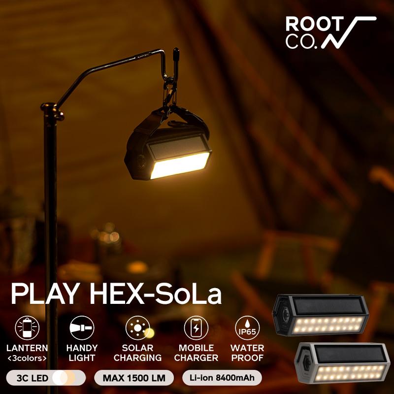<title>ソーラー充電対応 バッテリー機能付きLEDランタン ROOT CO. メーカー公式ショップ PLAY HEX-SoLa</title>