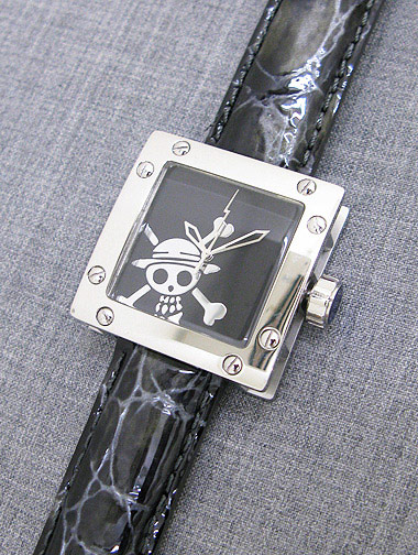 OFFICIAL】ete241403-黒文字盤 ONE WATCH PIECE 腕時計【ワンピース