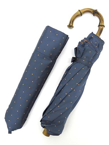 Maglia Franchesco マリア・フランチェスコ 折り畳み傘 バンブー ブルードット maf282208