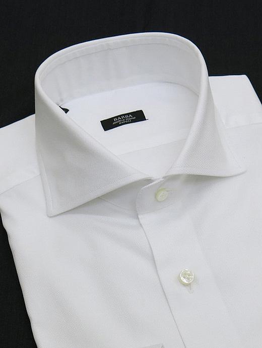 BARBA バルバ シャツ ドレス ホワイト ホワイト bar301404
