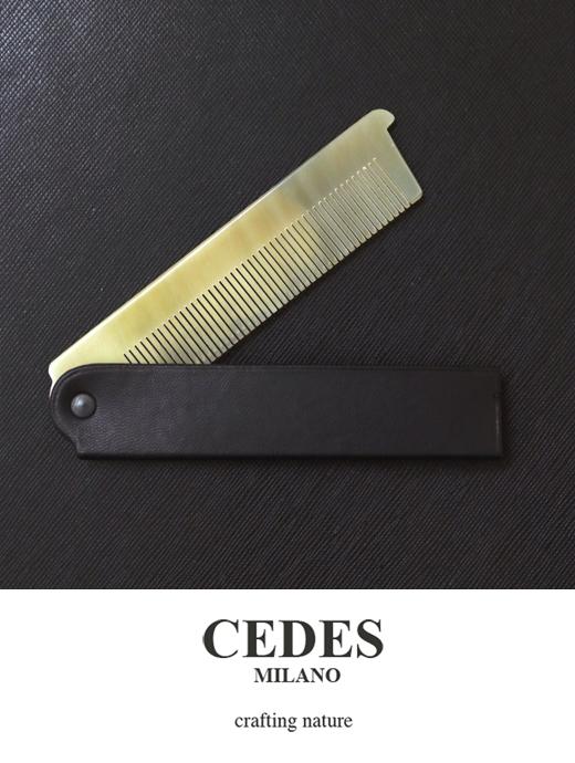 CEDES MILANO セデスミラノ ポケットコーム ヘアブラシ くし ブラック ced321408