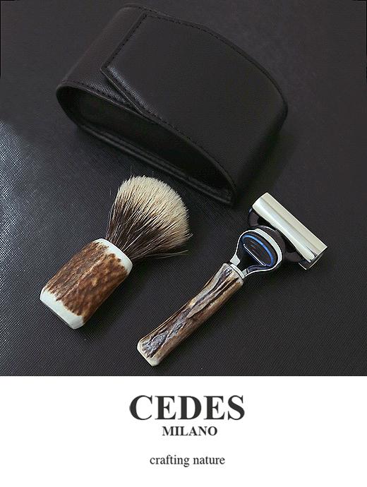CEDES MILANO セデスミラノ シェービングセット ジレット フュージョン ブラック ced321409