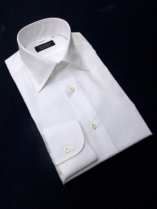 LES LESTON レスレストン シャツ ドレス セミワイドカラー ホワイト les322401