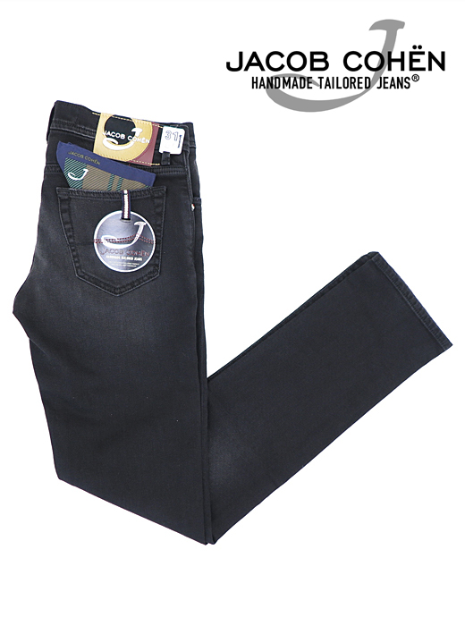 ブラックジーンズ/ストレッチデニム/J622 MOD COMFORT/香水付き/箱付き【JACOB COHEN/ヤコブコーエン】ja6029807-ブラック