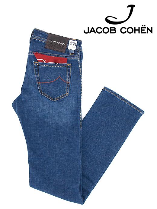 ジーンズ/ストレッチデニム/香水付き/J622 HEAVY STITCH COMFORT【JACOB COHEN/ヤコブコーエン】ja6029776-ウォッシュドブルー