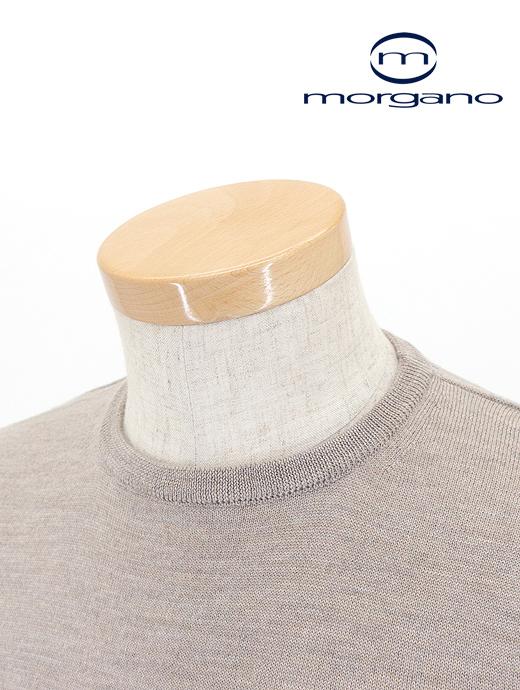 クルーネックニット/メリノウール【MORGANO/モルガーノ】mor361802-ベージュ