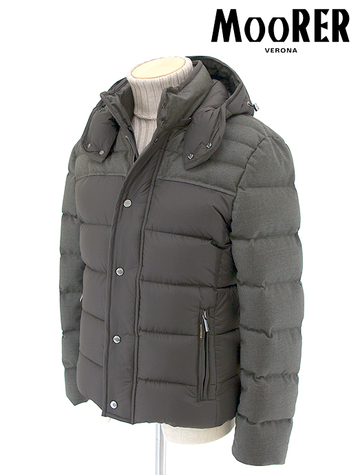 size 40 d7d62 bc481 Combination down jacket / wool cashmere X nylon /GHETTImoo362201- Forest  green