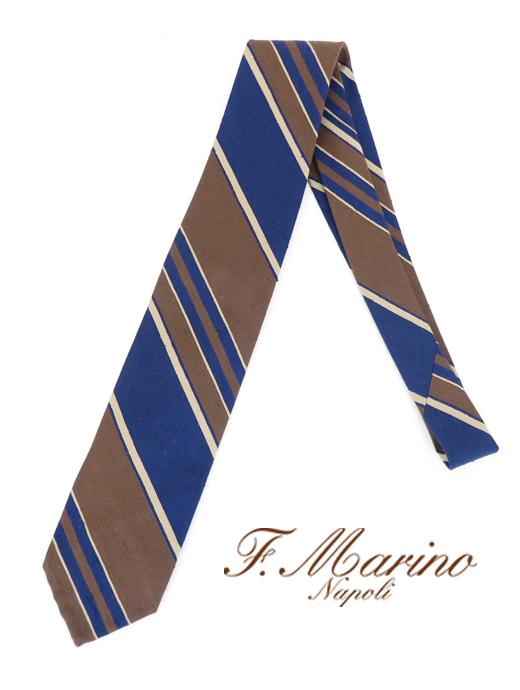 ネクタイ シルク スフォデラート Francesco 当店限定販売 Marino fma421823-ブラウン×ネイビー マリーノ 安い 激安 プチプラ 高品質 フランチェスコ