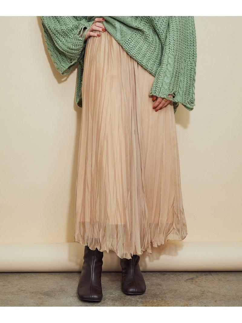 ROPE' レディース 公式通販 スカート ロペ ディスカウント MADEMOISELLE ワッシャー加工ランダムプリーツスカート スカートその他 ベージュ 先行予約 Rakuten グレー 送料無料 Fashion