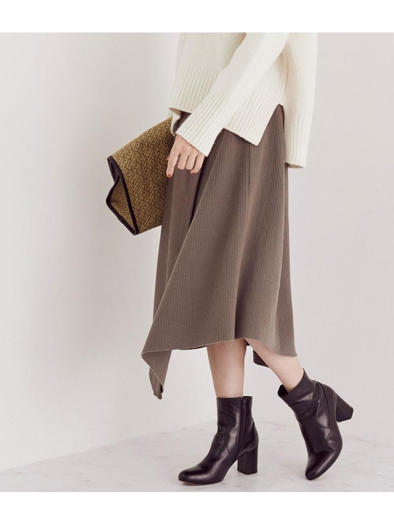 ROPE' レディース スカート 品質保証 ロペ セットアップ対応 ウールジャージニットコンビスカート スカートその他 ホワイト グリーン ネイビー Fashion 送料無料 SALE Rakuten