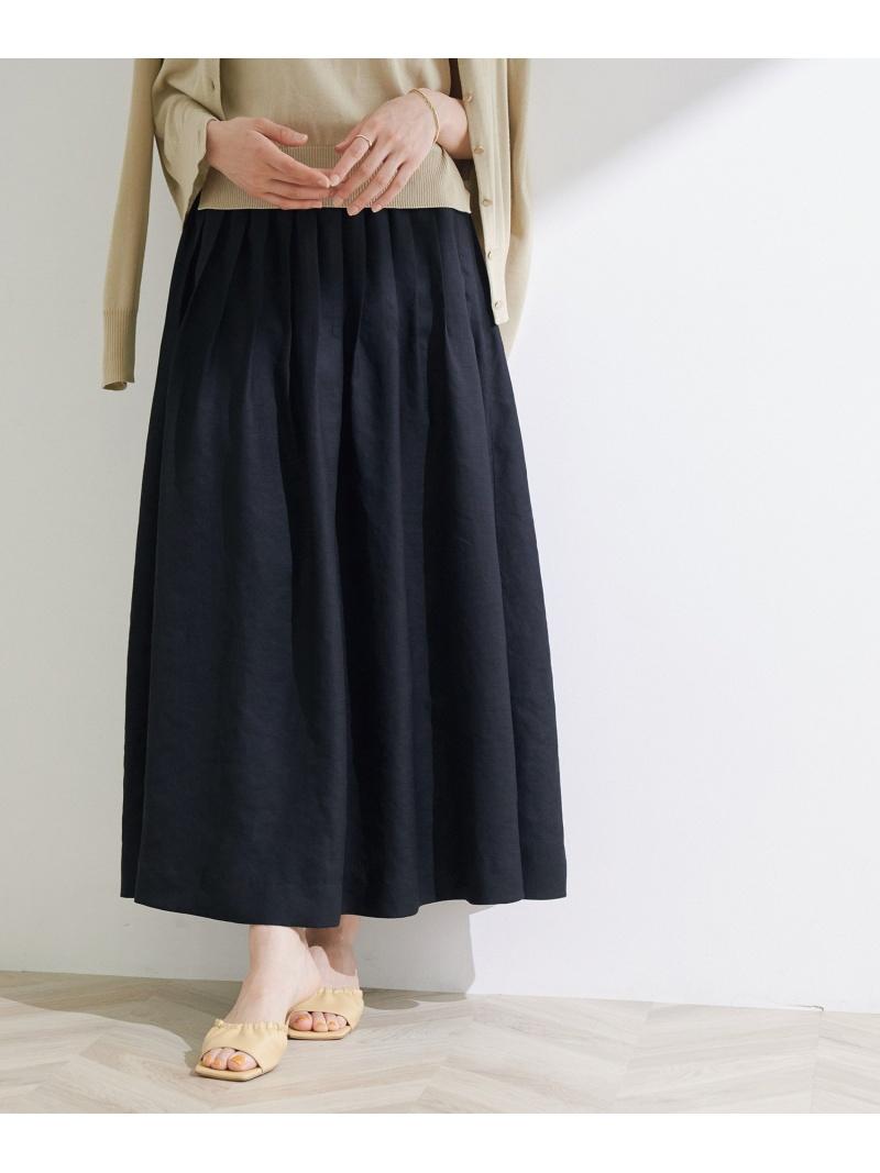 ROPE' レディース スカート 人気ブランド多数対象 ロペ 直営ストア ピンタックフレアボリュームスカート スカートその他 ブラック Fashion ブラウン 送料無料 Rakuten