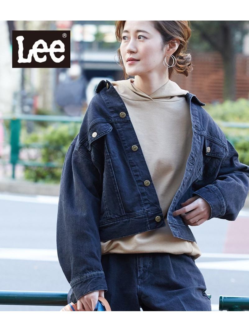 [Rakuten Fashion]【SALE/30%OFF】【WEB限定】【Lee(リー)】ルーズデニムジャケット ROPE' PICNIC ロペピクニック コート/ジャケット デニムジャケット ブラック ホワイト【RBA_E】【送料無料】