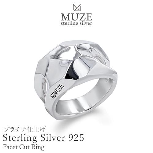 SV925 シルバー指輪 ファセットカットモチーフリング シルバーリング 個性派 純銀 極細 シンプル キラキラ おしゃれ サプライズ SterlingSilver お祝い 誕生日 プレゼント 彼女 妻 記念 madeinjapan 刻印 名入れ 福袋