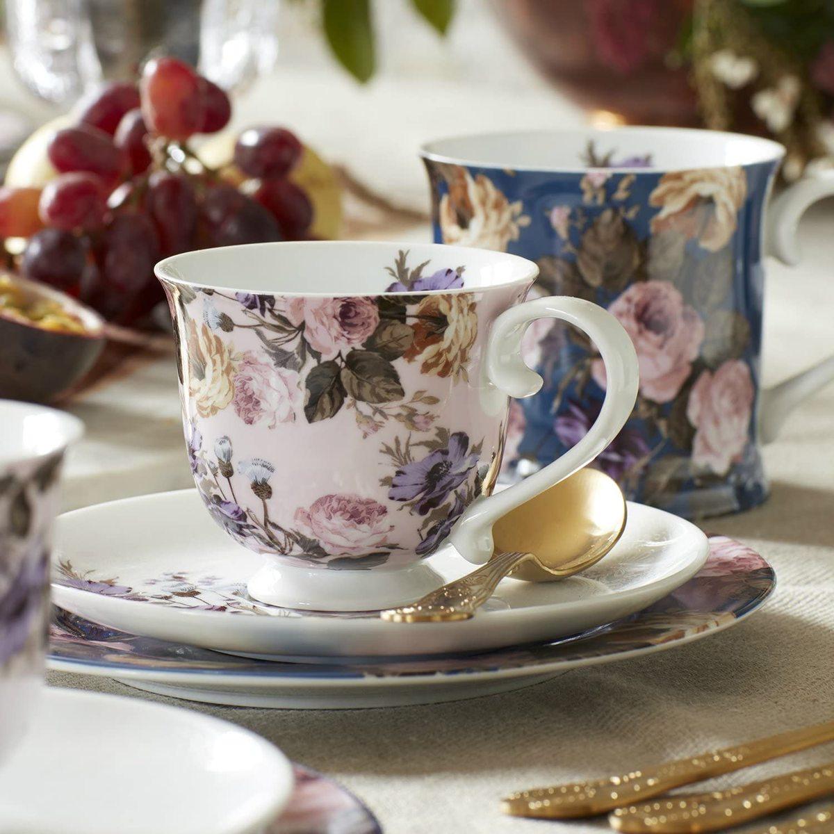 割り引き ロマンティックな花柄とレースが特徴です 送料無料新品 イギリス ケイティアリス ワイルドアプリシテイ ソーサー コレクション ティーカップ