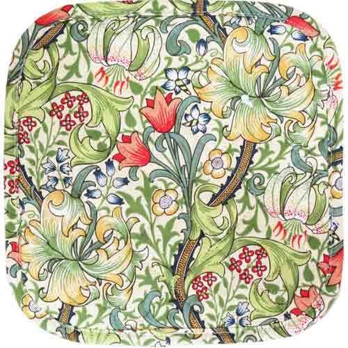 ウィリアム モリス Golden Lily ポットマット鍋つかみです 鍋つかみ Beau Morrisモリスデザイン イギリスLaura's お得 低廉 ポットマット