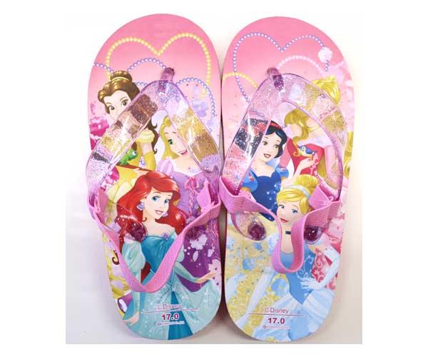 プリンセスのビーチサンダルが登場です! サンダル 7609 ディズニープリンセス ビーチサンダル プリンセス Disneyzone ディズニー靴 ラプンツェル アリエル ベル キッズサンダル ビーチサンダル ビーサン ディズニー キッズ 16~19cm ディズニーグッズ