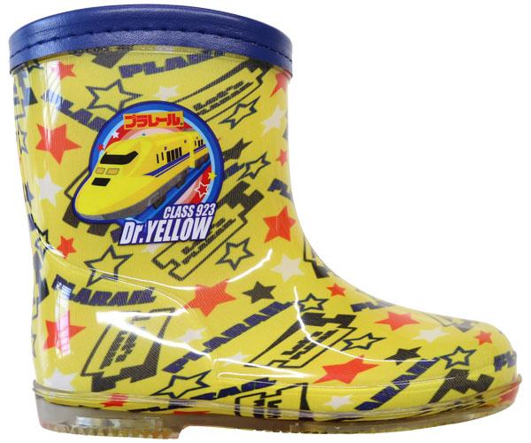プラレールからドクターイエローのレインブーツが登場です! プラレ-ル レインブーツ ドクターイエロー 新幹線 長靴 トミカ レイン キッズ レインシューズ 子供靴 キッズシューズ 15~19cm 下駄箱サイズ プラレール靴 16240