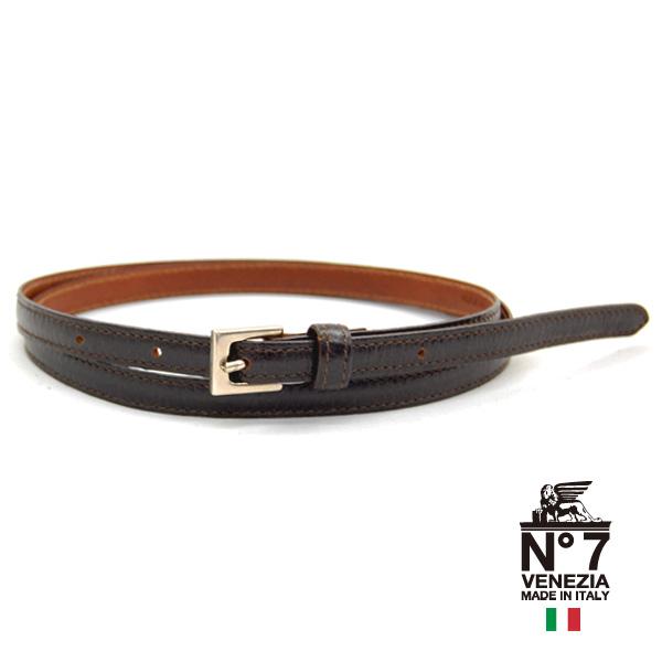 イタリア製レザーベルト ブランド激安セール会場 レディース型押しベルトno7-s30-darkbrownダークブラウンNO7ナンバーセブン ランキング ファッション バックル 革小物 今ダケ送料無料 ブランド belt 11000