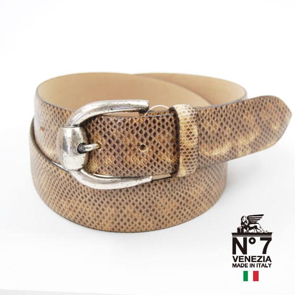 イタリア製水蛇革ベルト レディースno7-s733-brownNO7ナンバーセブン ランキング ファッション バックル 革小物 24000 belt 送料無料お手入れ要らず 全国一律送料無料 ブランド