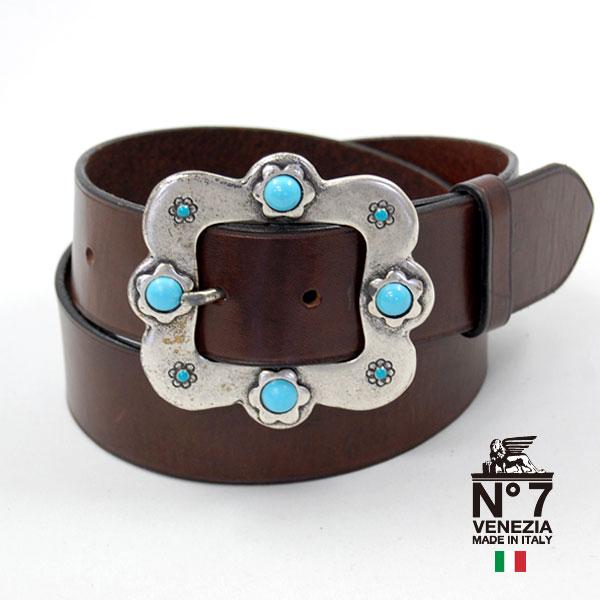 イタリア製レザーベルトレディースno7-s773-darkbrownNO7ナンバーセブン ランキング ファッション バックル 革小物 有名な 19000 belt ブランド 結婚祝い