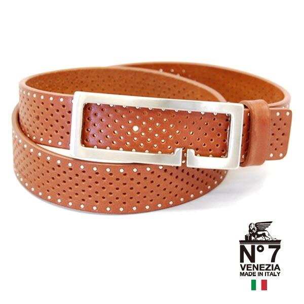 イタリア製レザーベルト/レディースno7-s84-brownブラウン茶NO7ナンバーセブン【ランキング】【ファッション】【バックル】【革小物】【belt】【ブランド】22000