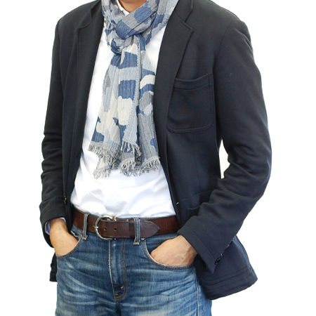 イタリア お気にいる メンズストール コットン迷彩柄ストール 激安通販 amarantoCALABRIAACCESSORIカラブリアアクセサリー