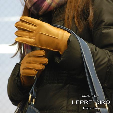 ディアスキン 1ラインレザーグローブウールライナーイタリア 手袋/グローブ1107w LEPRE CIRO レプレシロ レディース 革手袋 グローブ