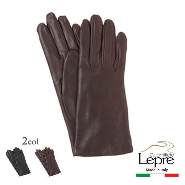 ウールライナー プレーンレザーグローブイタリア製レザーグローブ 販売 革手袋lepre-1120w少し長めの24cm プレゼント ナポリ 10000 ギフトラッピング 贈呈