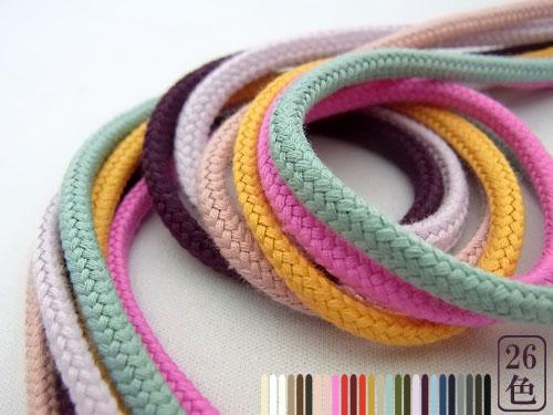 肌触りが優しく柔らかい紐です 巾着やパーカー紐にどうぞ 倉庫 カラーは全部で26色 新作続 コットンコードコットン 全26色 ひもMサイズ 4~5mm