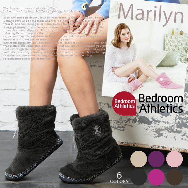 [BedroomAthletics] bedroomathletics «瑪麗蓮» 瑪麗蓮 · 多彩人造毛皮短房間靴室室內鞋我母親節禮物 15 16