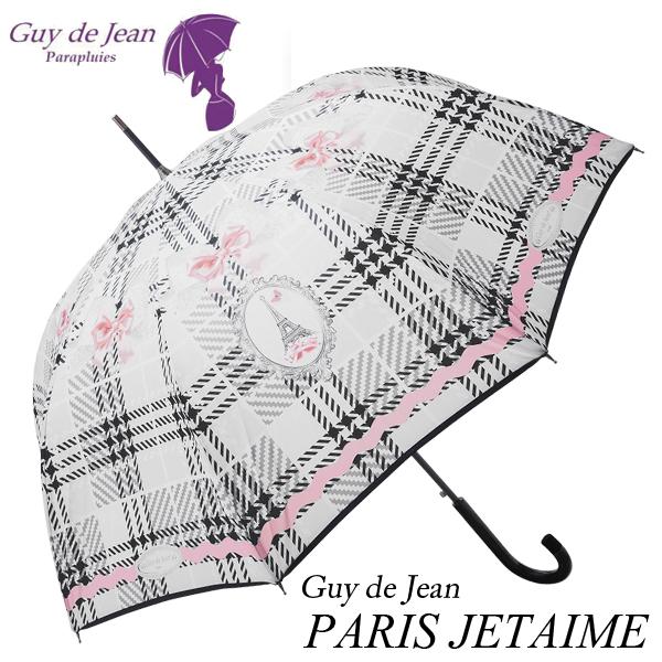 [Guy de jean ギ・ドゥ・ジャン][PARIS JETAIME パリ ジュテーム]女性用 ブランド 雨傘 フランス製 長傘 ワンタッチ リボン 母の日