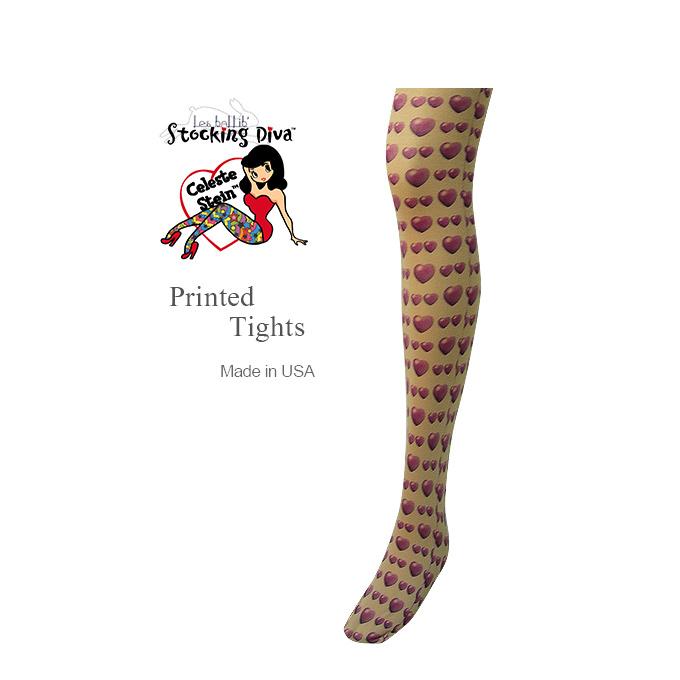 女士们裸体紧身衣品牌作在美国取得意大利面料图案花卉纹身裤袜彩色丝袜