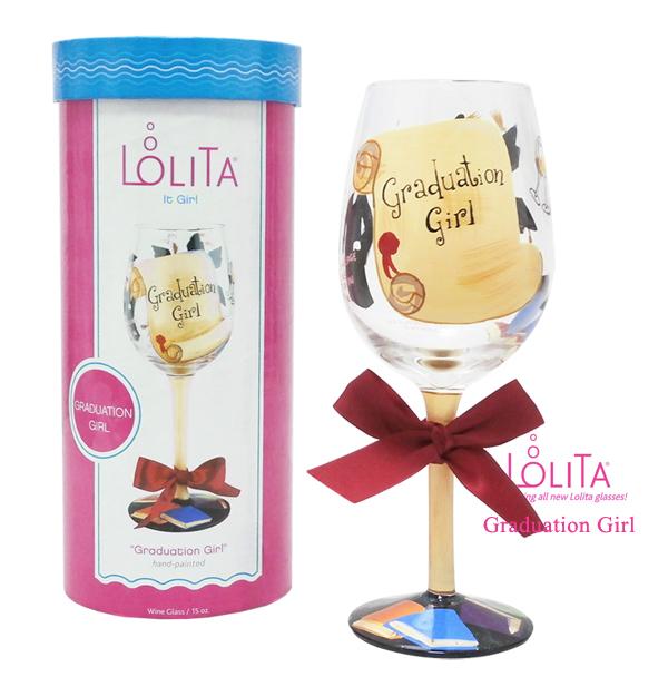 送料特典 セレブも愛用 ロリータ ヤンシーのワイングラス 1度見ると心に残るこだわりの詰まったお洒落なデザイン性 正規品送料無料 正規品 ワイングラス 日本産 グラジュエーション Lolita ブランド GIRL GRADUATION ガール