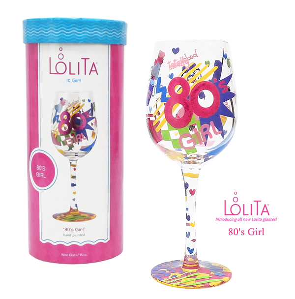 送料特典 セレブも愛用 ロリータ ヤンシーのワイングラス 1度見ると心に残るこだわりの詰まったお洒落なデザイン性 正規品 海外輸入 Lolita エイティーズガール ワイングラス 限定タイムセール 80'S GIRL ブランド