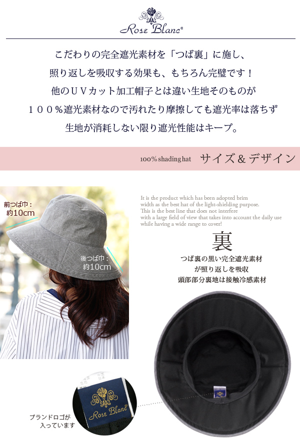 a90c84d5f63 Authentic Light shielding ratio 100% UV shielding factor 100%! Plane 10cm  (air permeable type) UV cut hat contact feeling of cold Lady s rain hat UV  hat ...