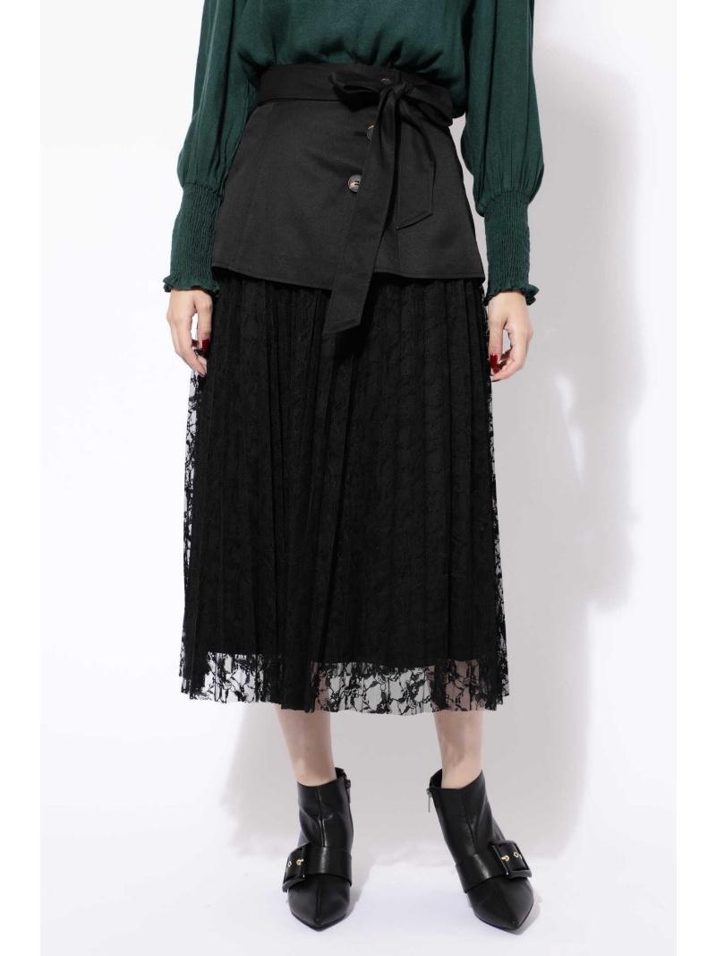 [Rakuten BRAND AVENUE]コルセットベルト付レーススカート ROSE BUD ローズバッド スカート【先行予約】*【送料無料】