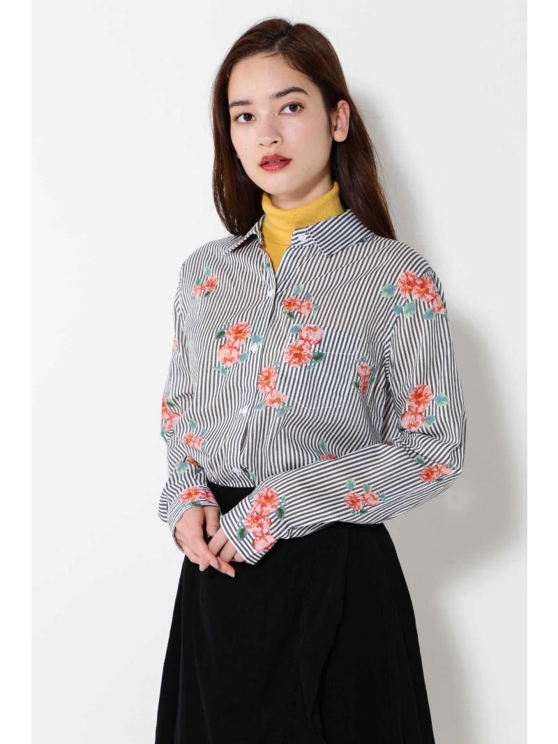 [Rakuten BRAND AVENUE]RAILS ストライプ×ローズシャツ ROSE BUD ローズバッド シャツ/ブラウス【送料無料】