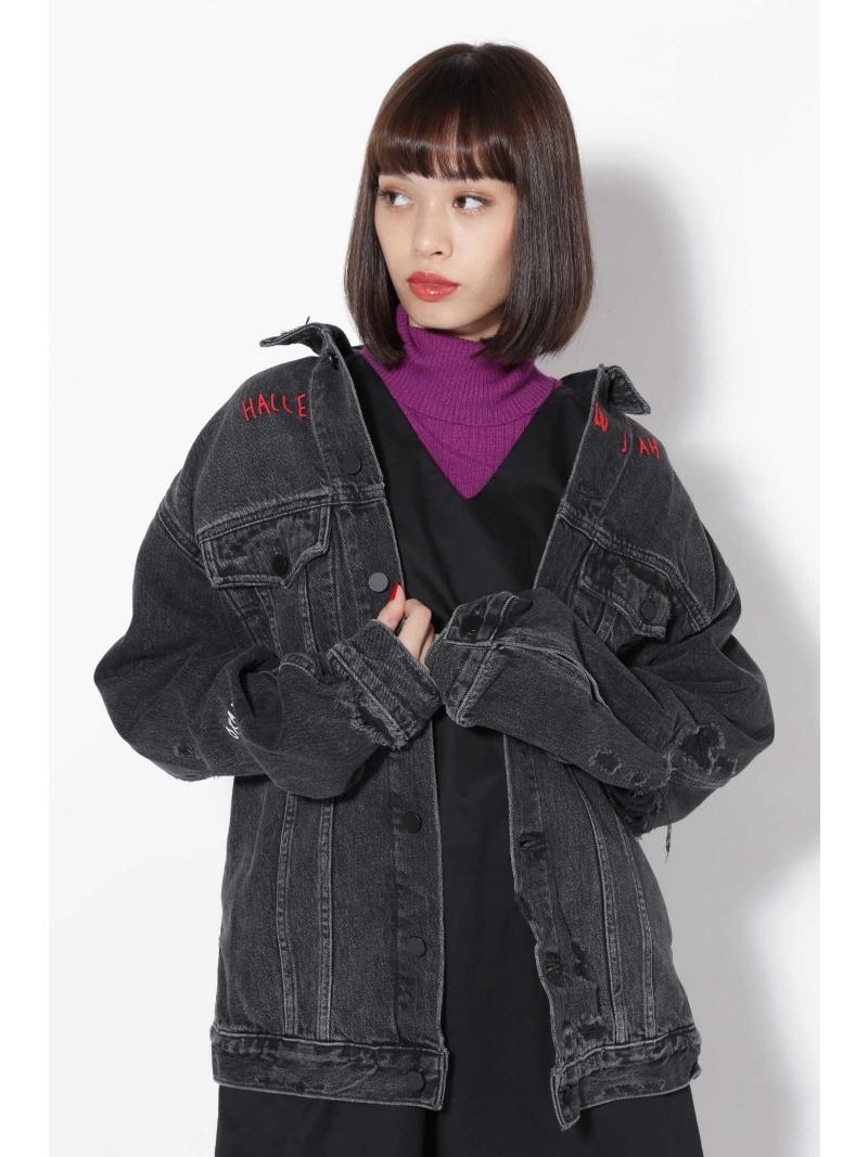 [Rakuten BRAND AVENUE]ロゴ刺繍デニムジャケット ROSE BUD ローズバッド コート/ジャケット【送料無料】
