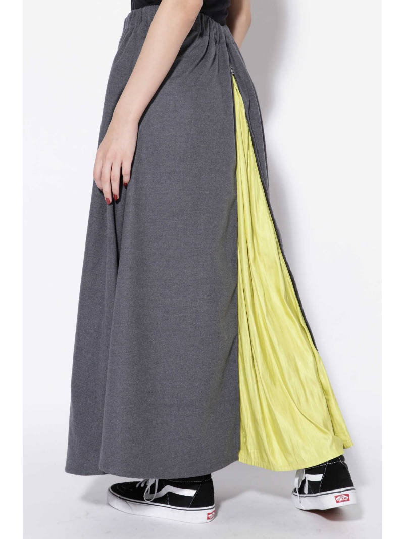 [Rakuten BRAND AVENUE]後ろファスナー付バイカラースカート ROSE BUD ローズバッド スカート【送料無料】