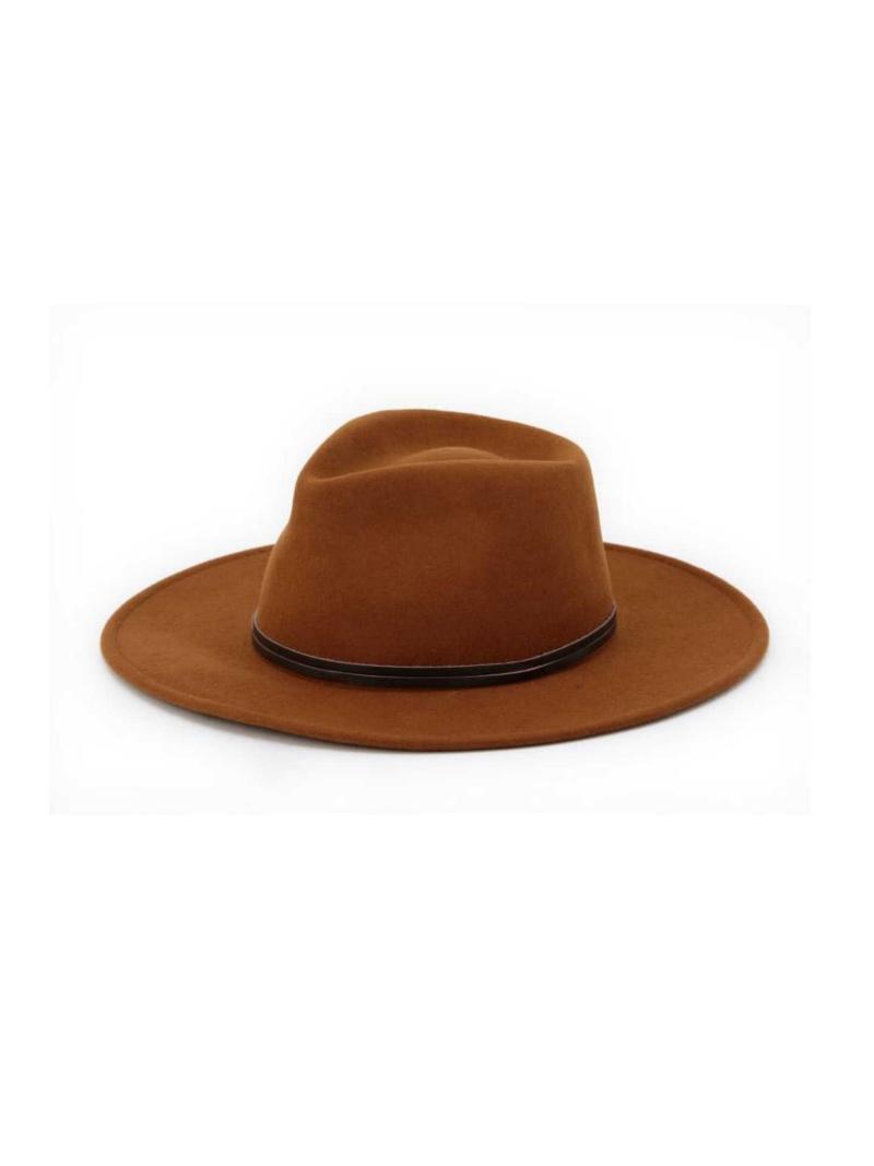 [Rakuten BRAND AVENUE]ウール牛革リボンツバ広中折れハット ROSE BUD ローズバッド 帽子/ヘア小物【送料無料】