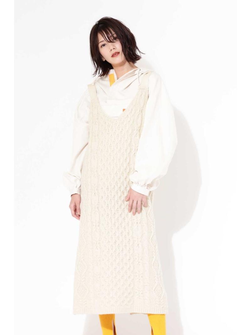 [Rakuten BRAND AVENUE]ケーブルニットドレス ROSE BUD ローズバッド ワンピース【送料無料】