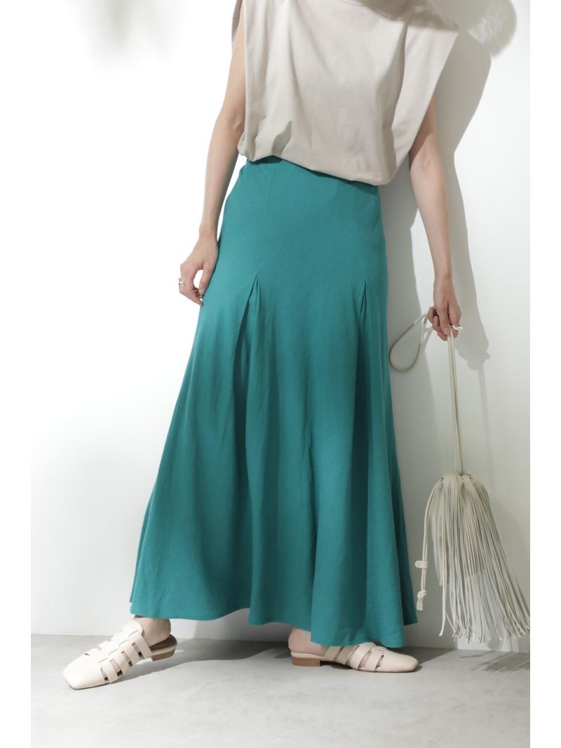 ROSE BUD レディース スカート ローズバッド SALE 20%OFF リネンマーメイドスカート スカートその他 ベージュ ブルー 送料無料 定番キャンバス Fashion 定番キャンバス グリーン ピンク RBA_E Rakuten