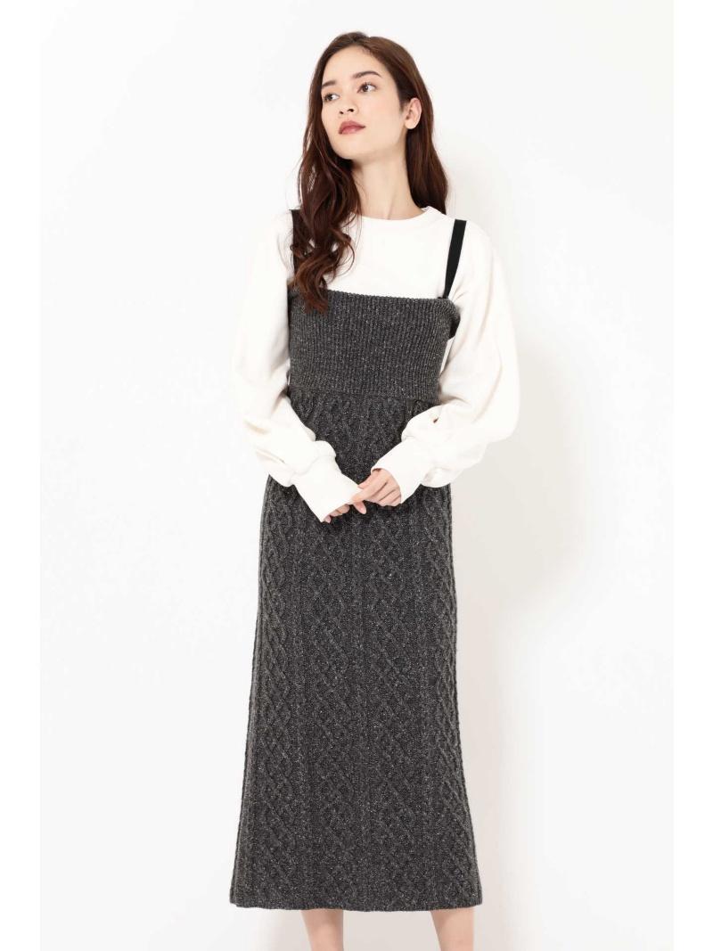 [Rakuten BRAND AVENUE]ネップ4wayスカート ROSE BUD ローズバッド スカート【送料無料】