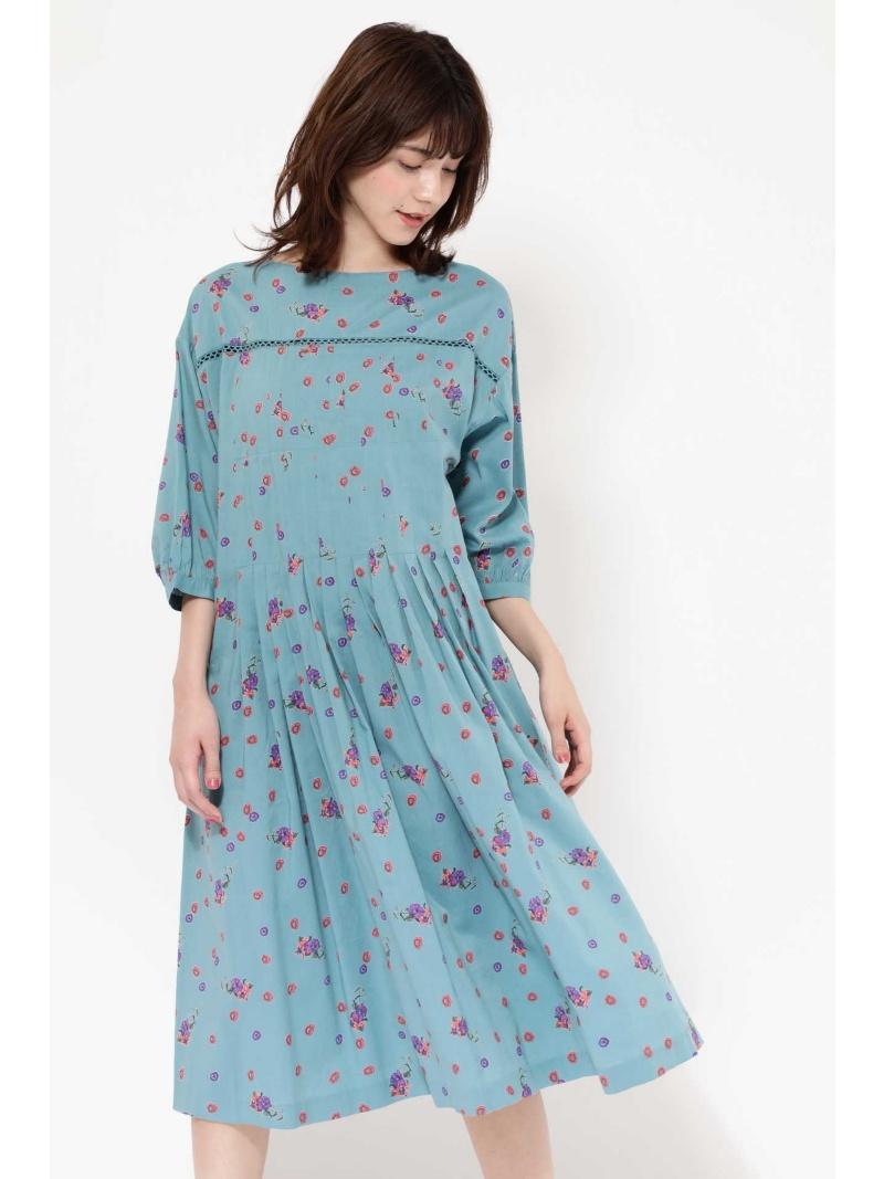 [Rakuten BRAND AVENUE]MINI FLOWER TUCK DRESS ROSE BUD ローズバッド ワンピース【送料無料】
