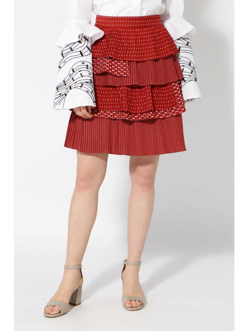 [Rakuten BRAND AVENUE]【SALE/40%OFF】ドットティアードミニスカート ROSE BUD ローズバッド スカート【RBA_S】【RBA_E】【送料無料】
