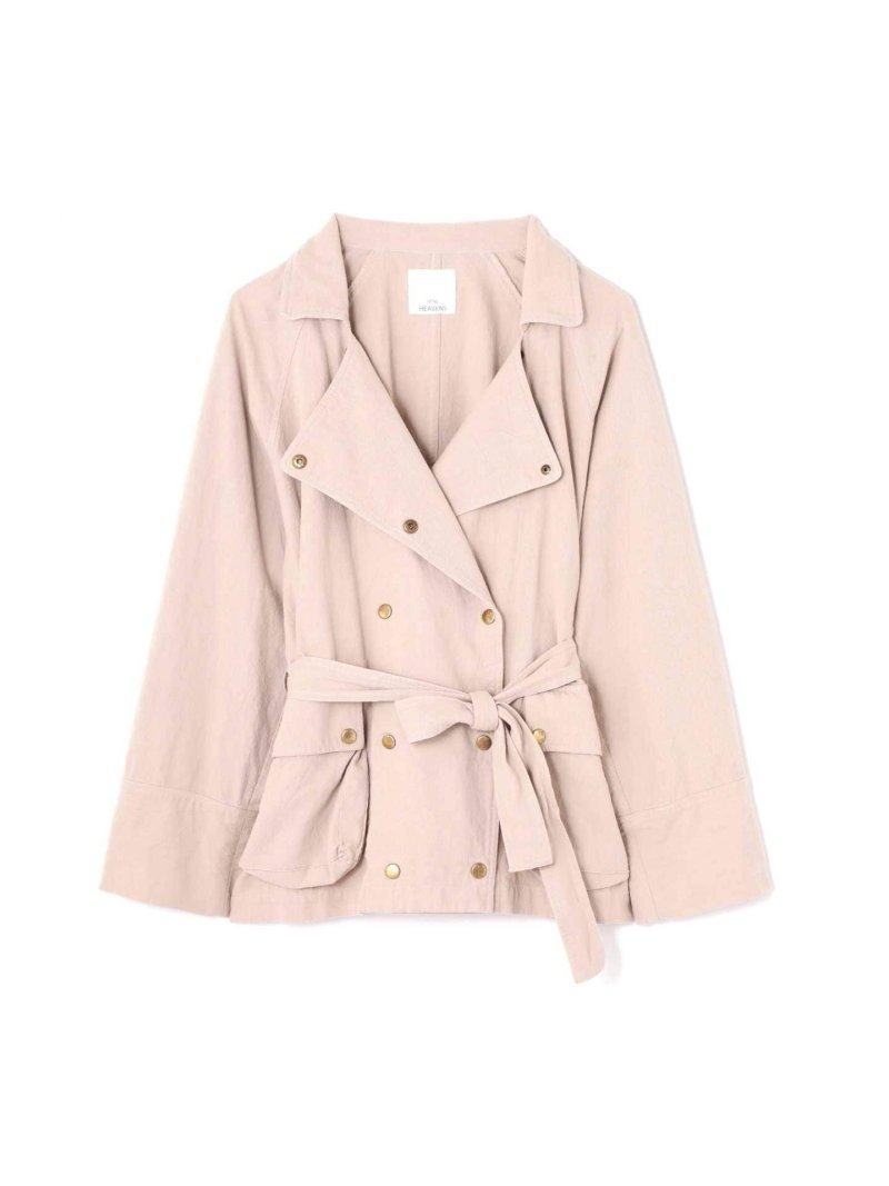 [Rakuten BRAND AVENUE]FRILL BACK MIRITALY TRENCH JACKET ROSE BUD ローズバッド コート/ジャケット【送料無料】